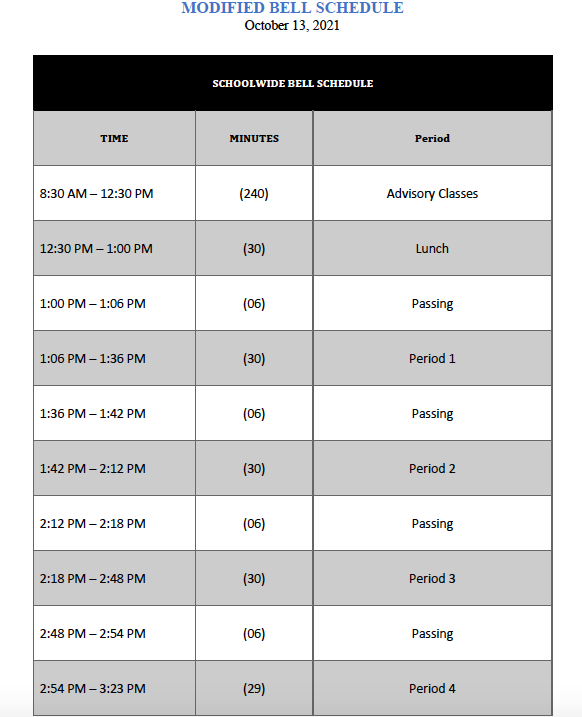 PSAT/SAT Modified Schedule for 10/13/21 Featured Photo
