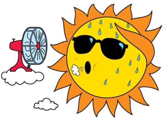 Clipart of sunshine with sunglasses on.