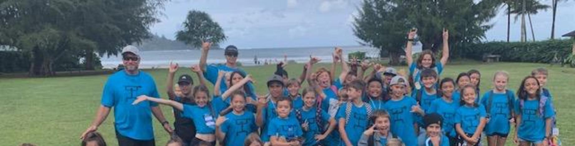4th Grade Hawaiian Studies students celebrate the Makahiki Games in Hanalei.