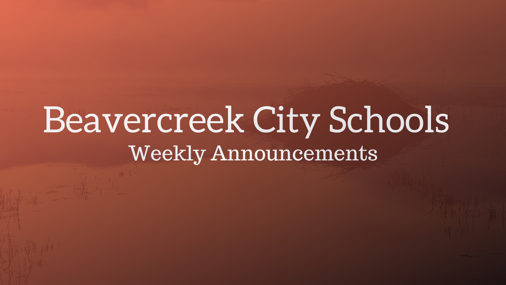 weekly announcement