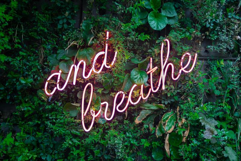 and breathe message