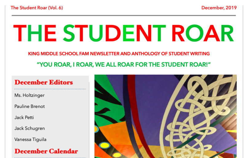 The Student Roar December 2019 Edition Featured Photo