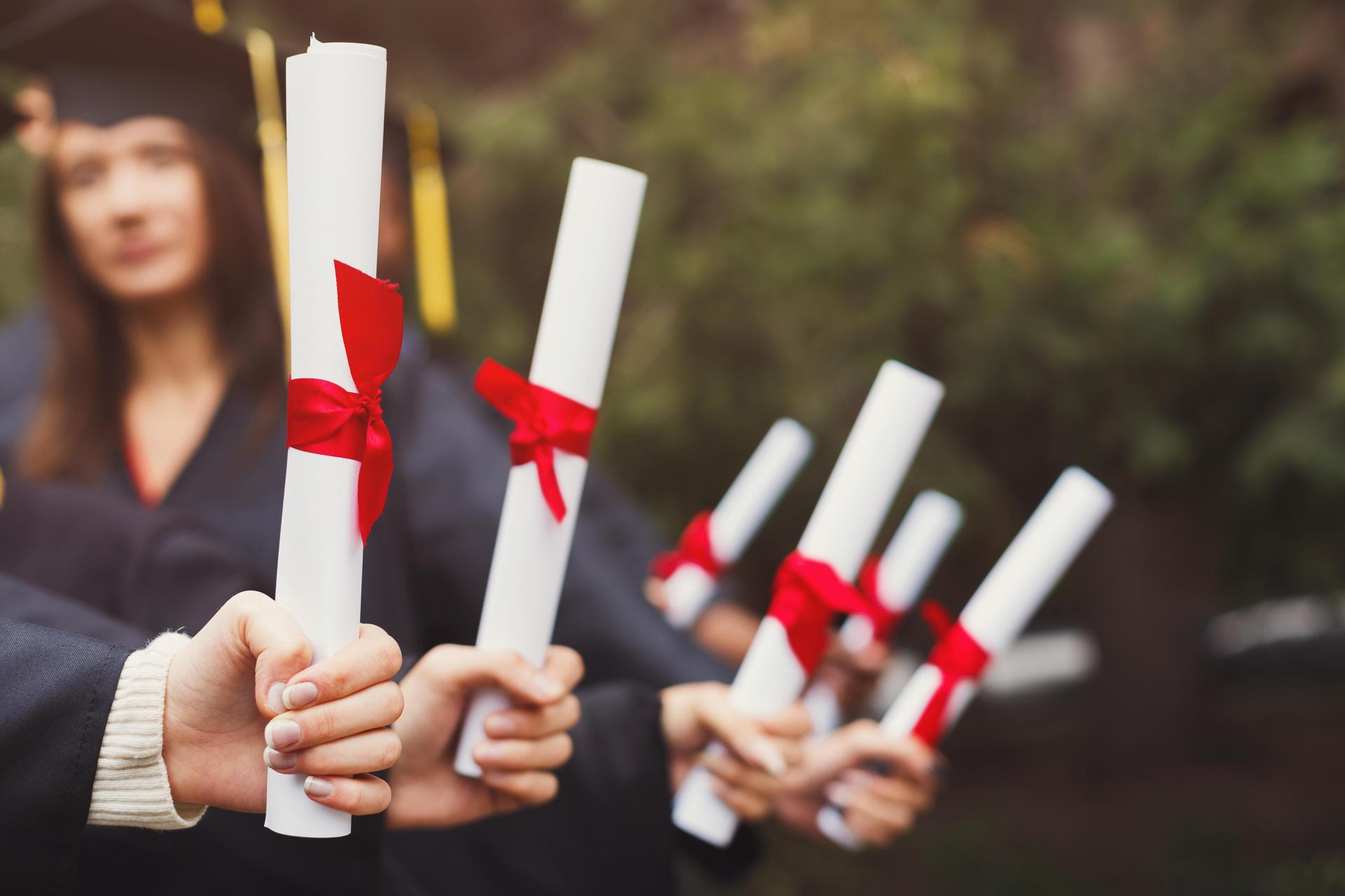 Picture of diplomas