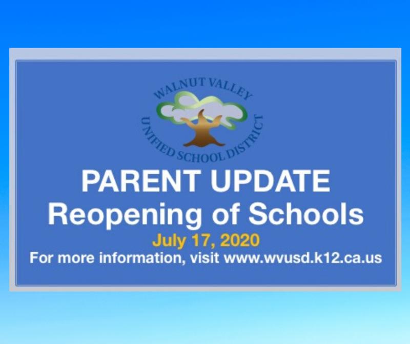 Parent Update: Reopening of Schools Featured Photo