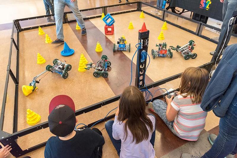 Students Valleyfest STEM Robotics Showcase