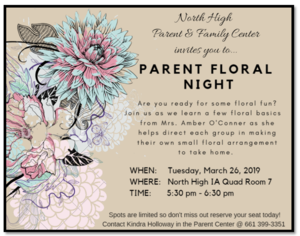 Floral Parent NIght