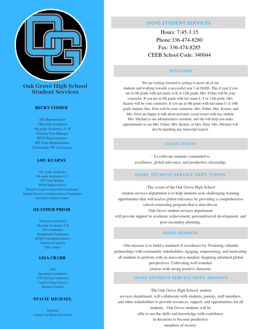 OGHS Student Services