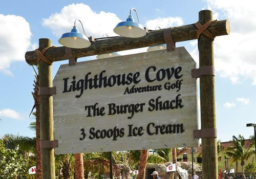 Lighthouse Cove Sign