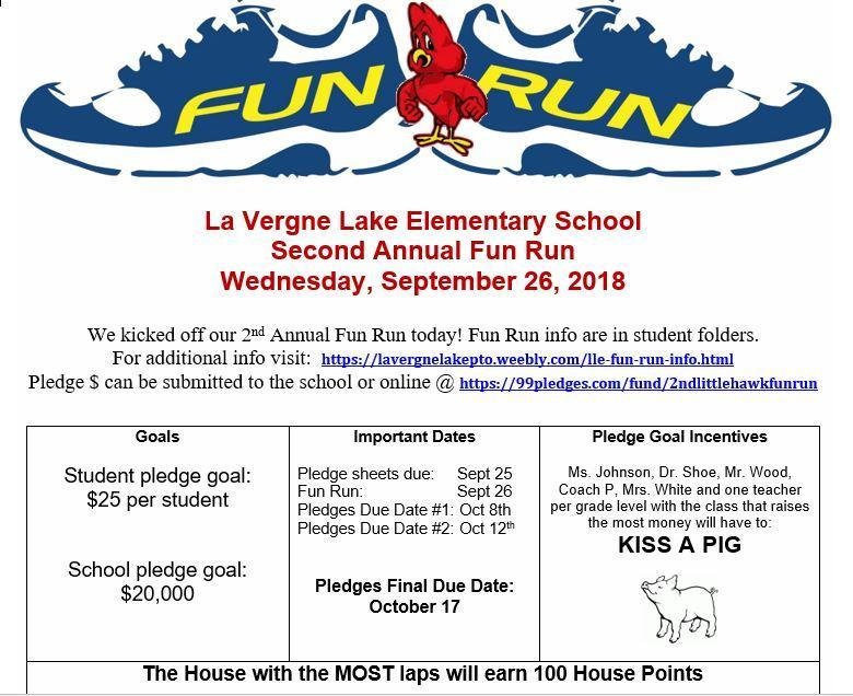 LLE's 2nd Annual Fun Run--Time to Turn in Pledges! Thumbnail Image
