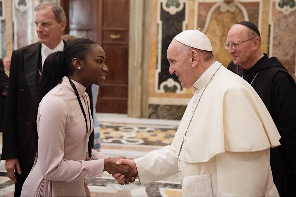 Chinelo and Pope Francis