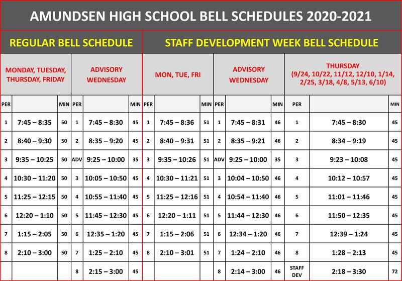 Regular Bell Schedule Begins Monday September 14th Featured Photo