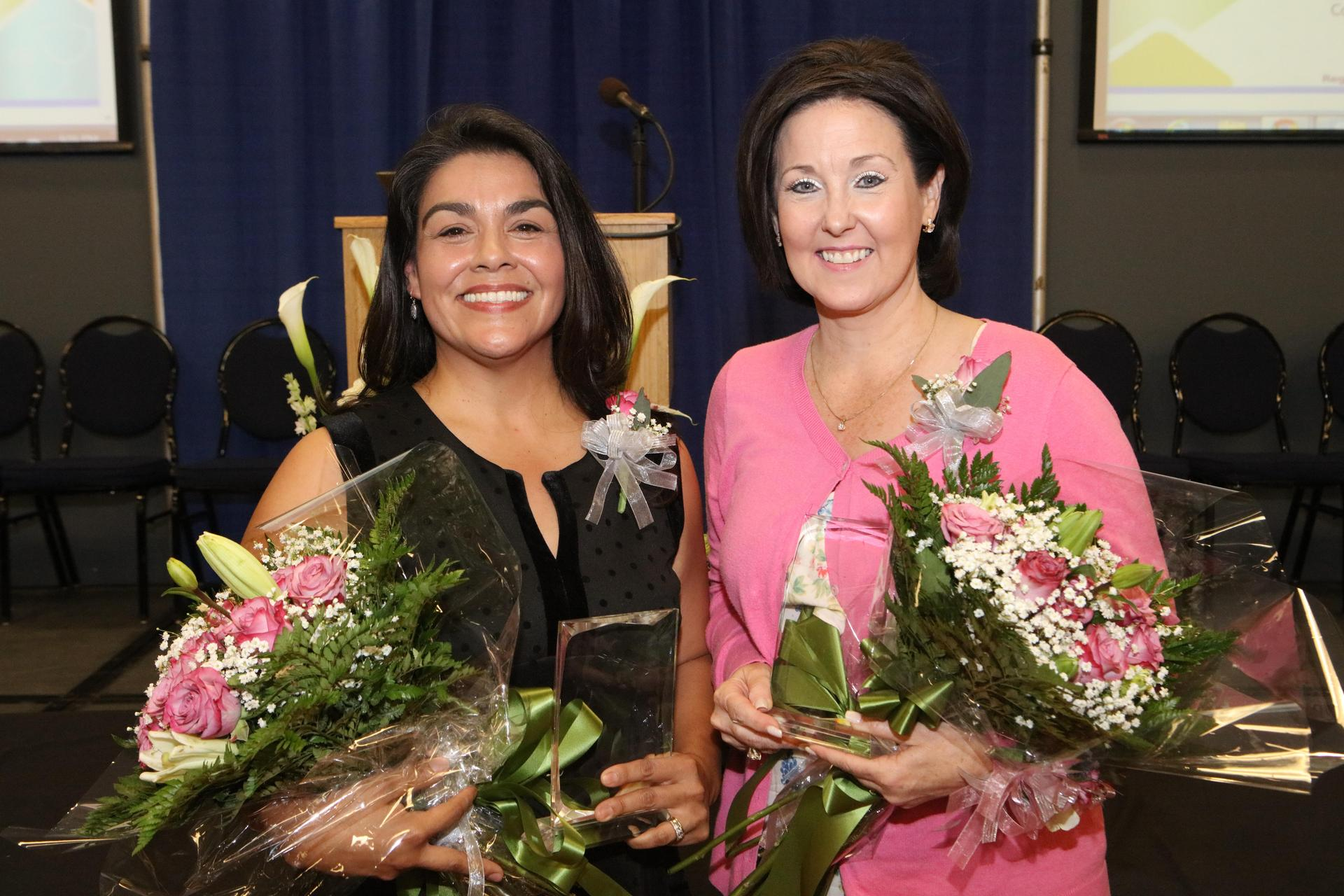 2019-2020 District Elementary and Secondary Teachers of the Year, Michelle Frazier and Delia Perez