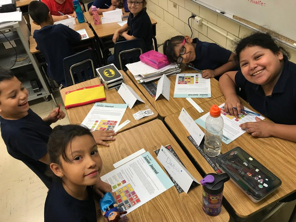 3rd grade working on packet