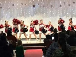 Cheerleaders at Talent Show.