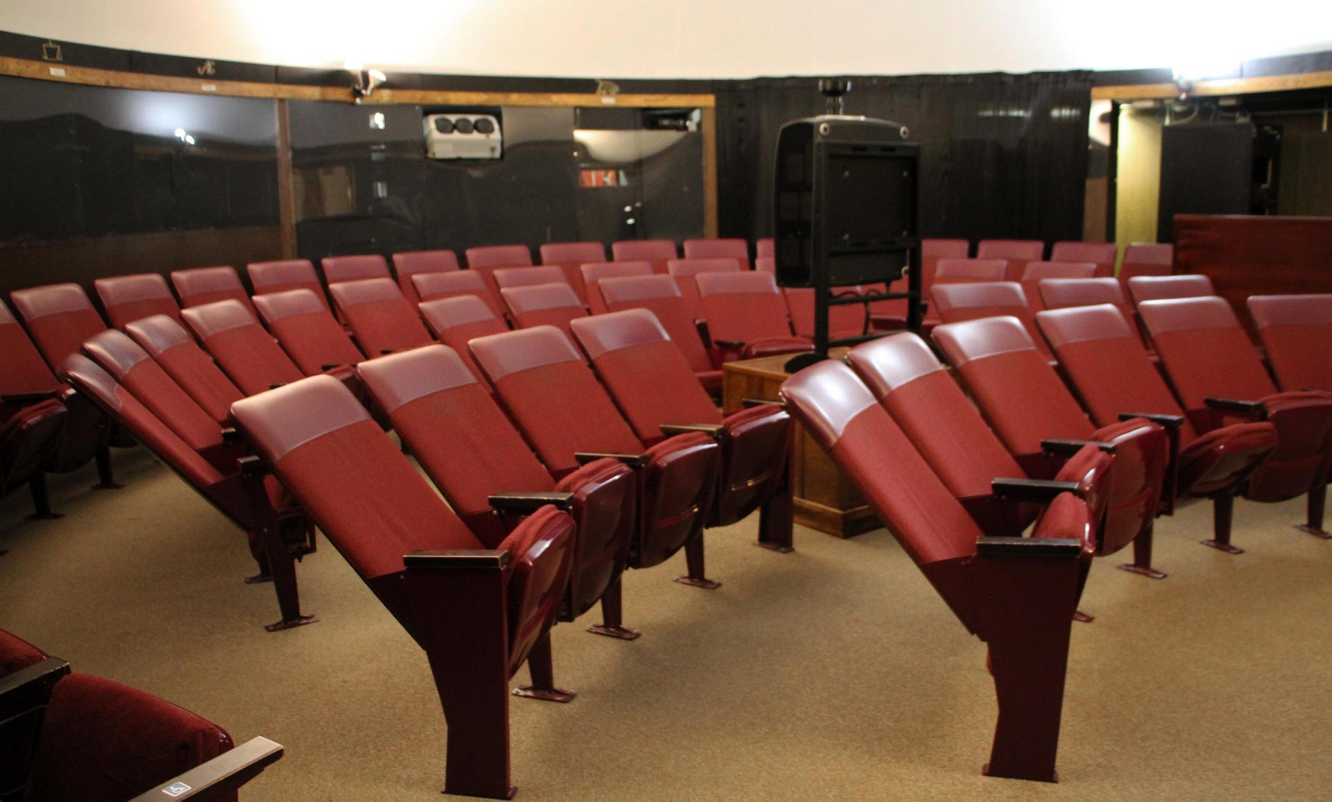 Seating inside Casper Planetarium