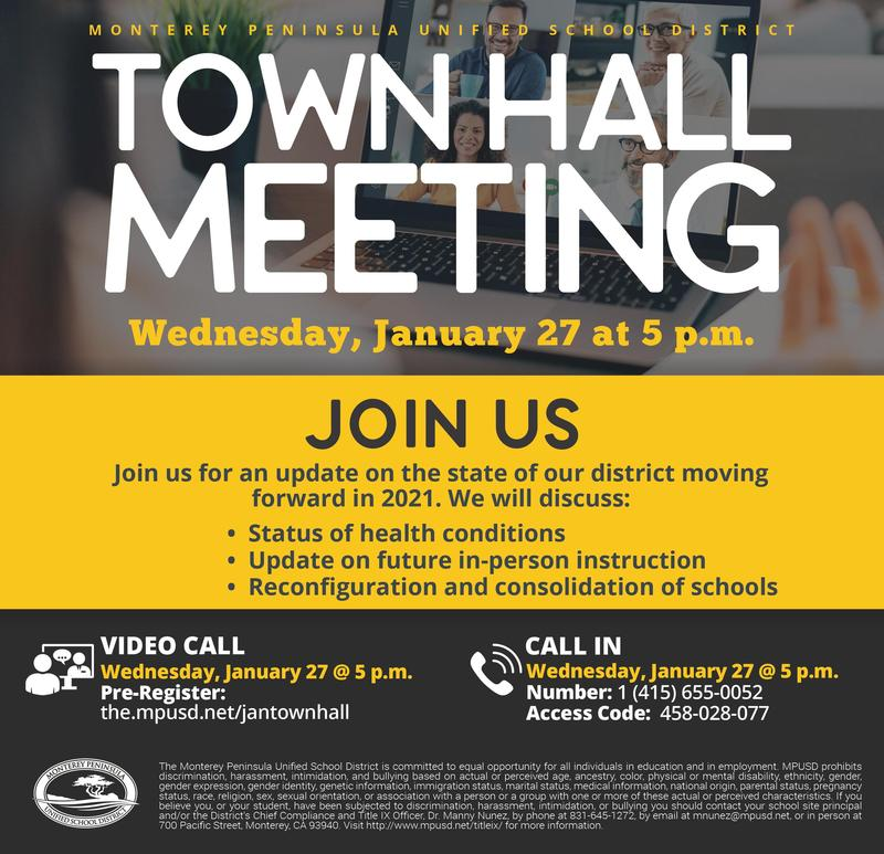 January Town Hall Flyer