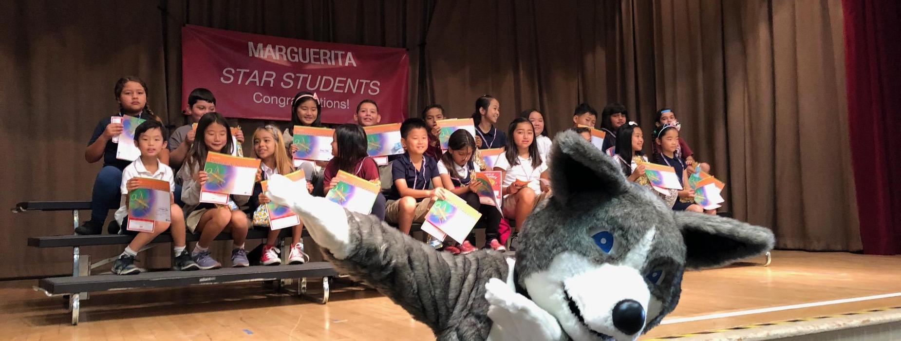 Marguerita star students honored by Mascot