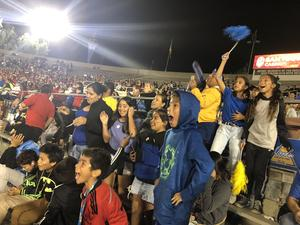 Students at a football game