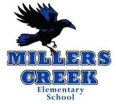 Millers Creek Elementary Logo featuring the Raven Mascot