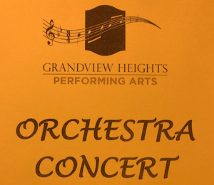 Orchestra concert sign