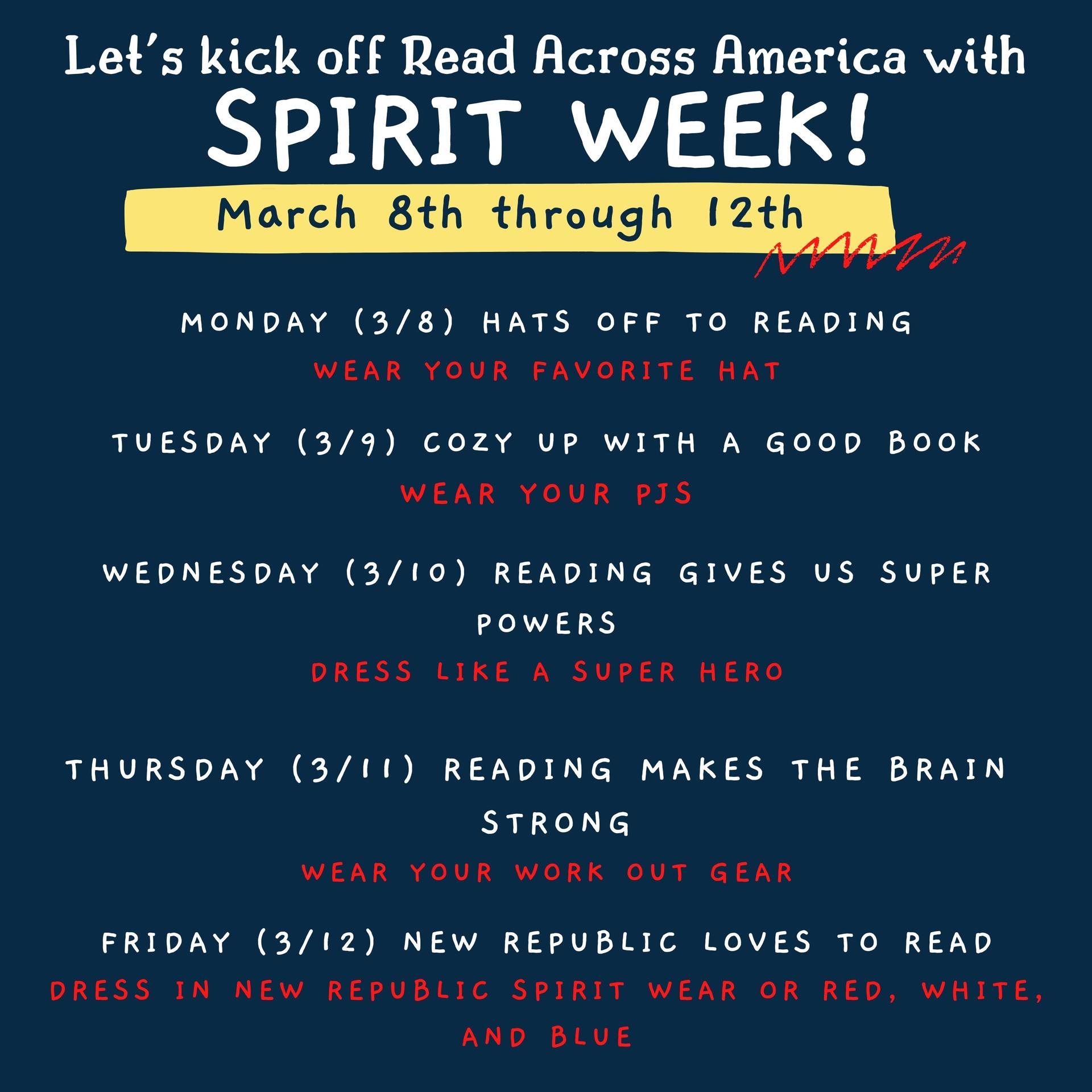 Read Across America Spirit Days