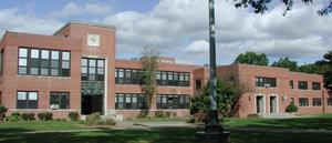 Exterior shot of front of Westfield High School.