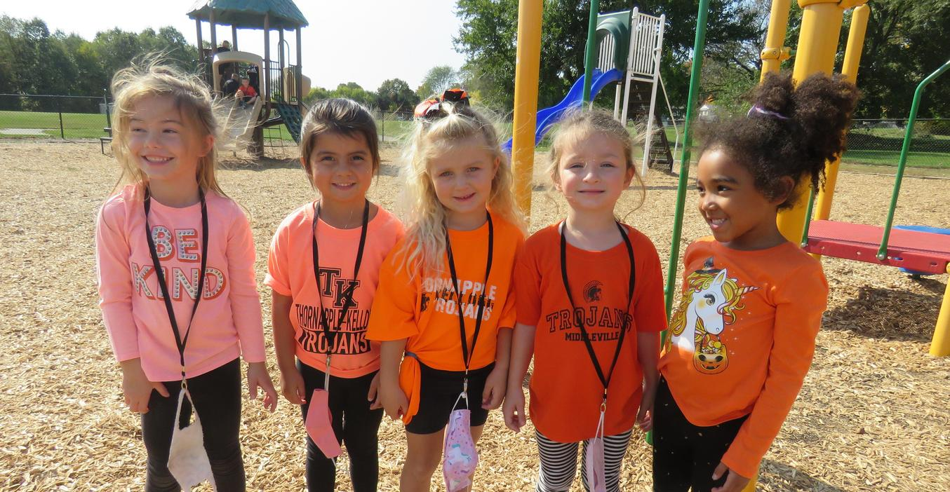 TK students show their TK pride during Spirit Week.