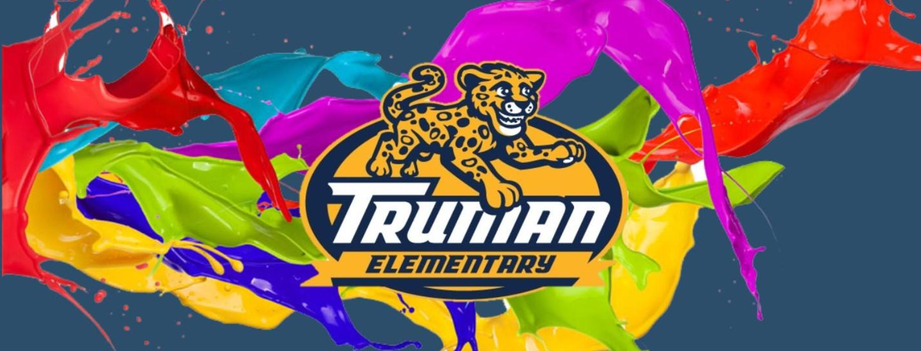 colors splash across Truman logo