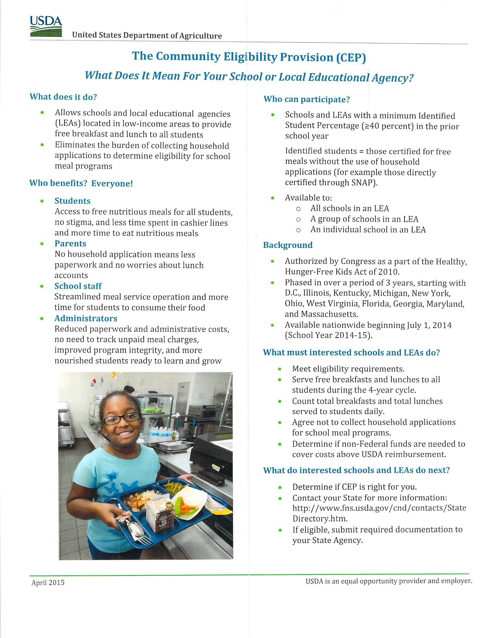 CEP Fact Sheet