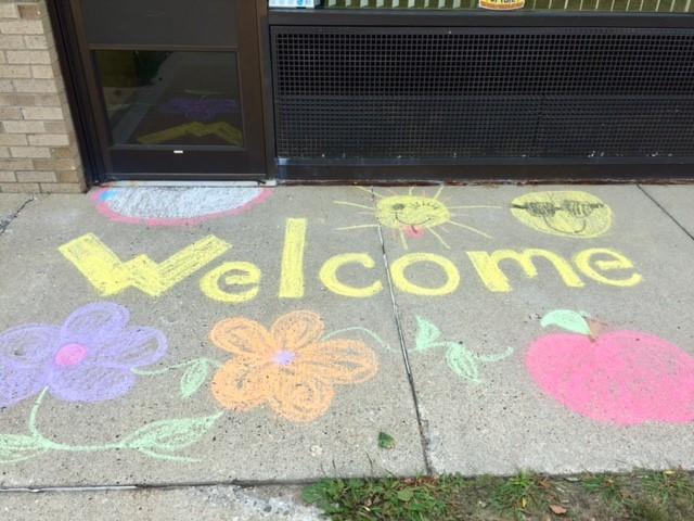 Chalk Art Welcome