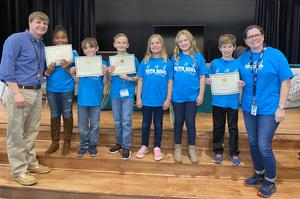 Riverbank's Math Bowl team