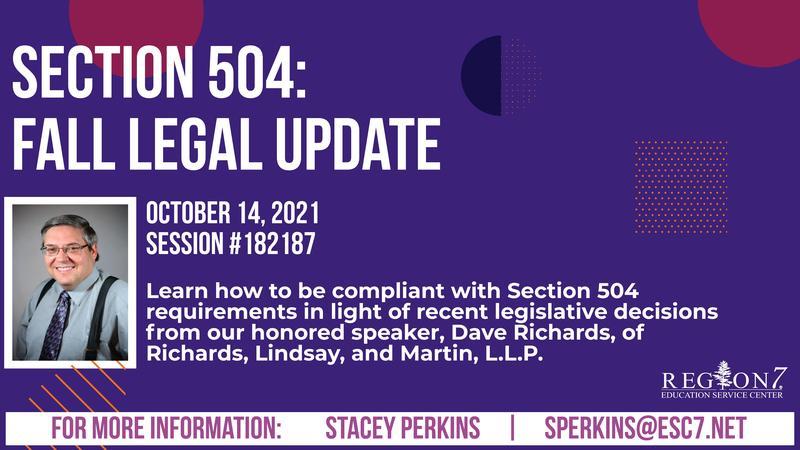 Fall Legal Update