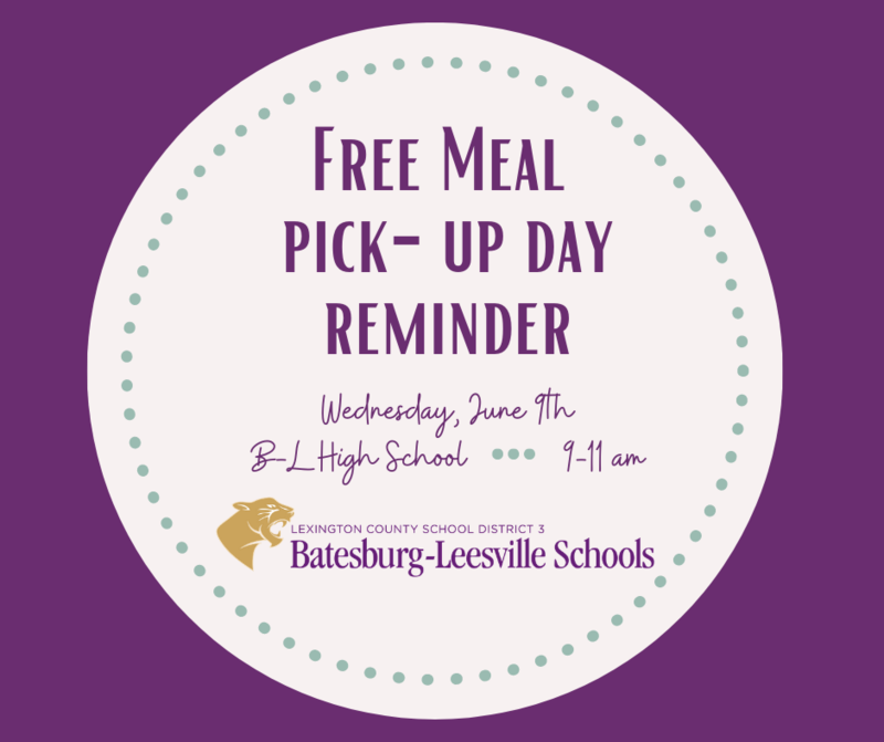 Free Meal Pick-Up Event Planned for June 9th