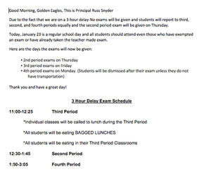 january 23 schedule