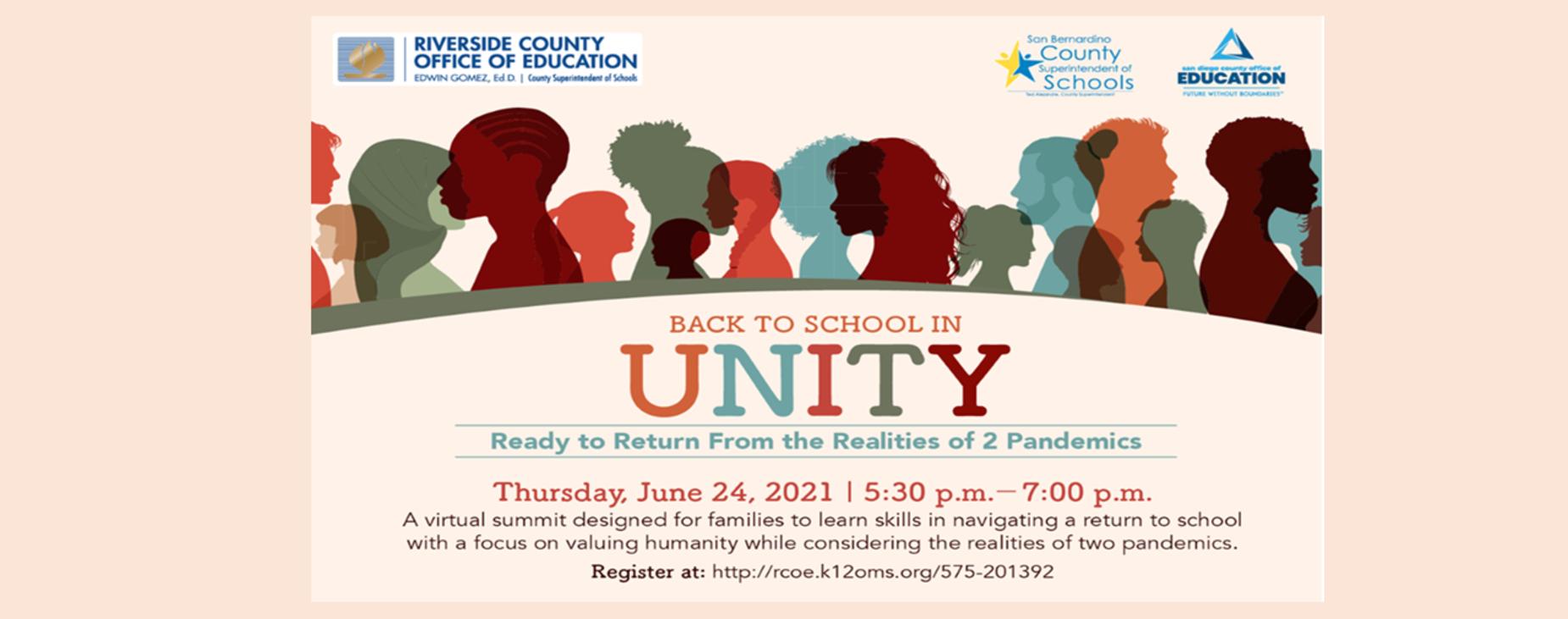 Back to School In Unity, Presentation by RCOE