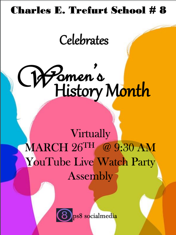 Women's History Month YouTube LIVE Assembly Featured Photo