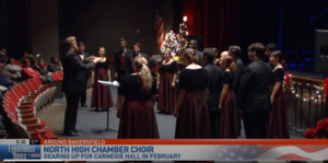 North High School's Chamber Choir is preparing to perform at Carnegie Hall in New York City.