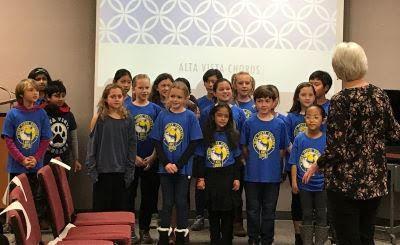 Alta Vista students perform song