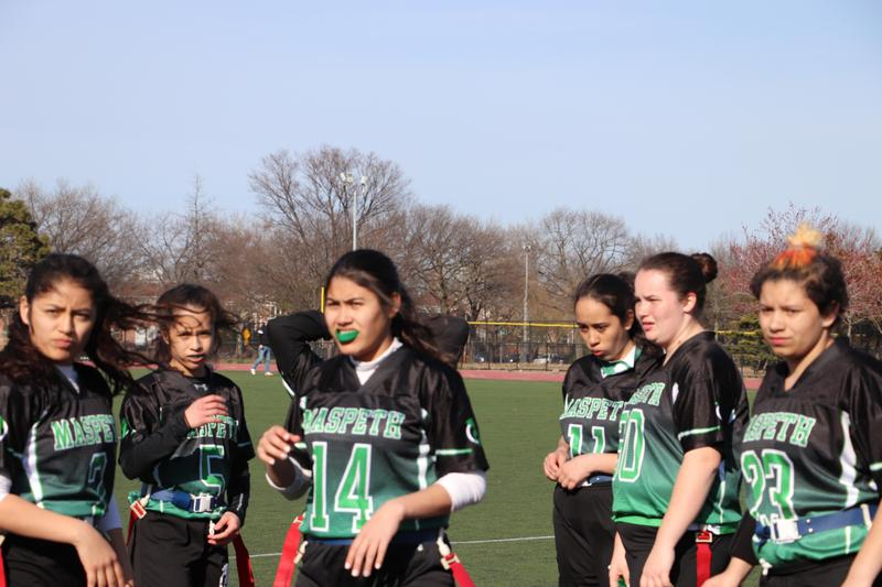 Maspeth High Green Machine Defends 5-0 Record vs Dewitt Clinton Featured Photo