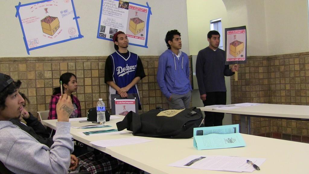students attending a teach-in event