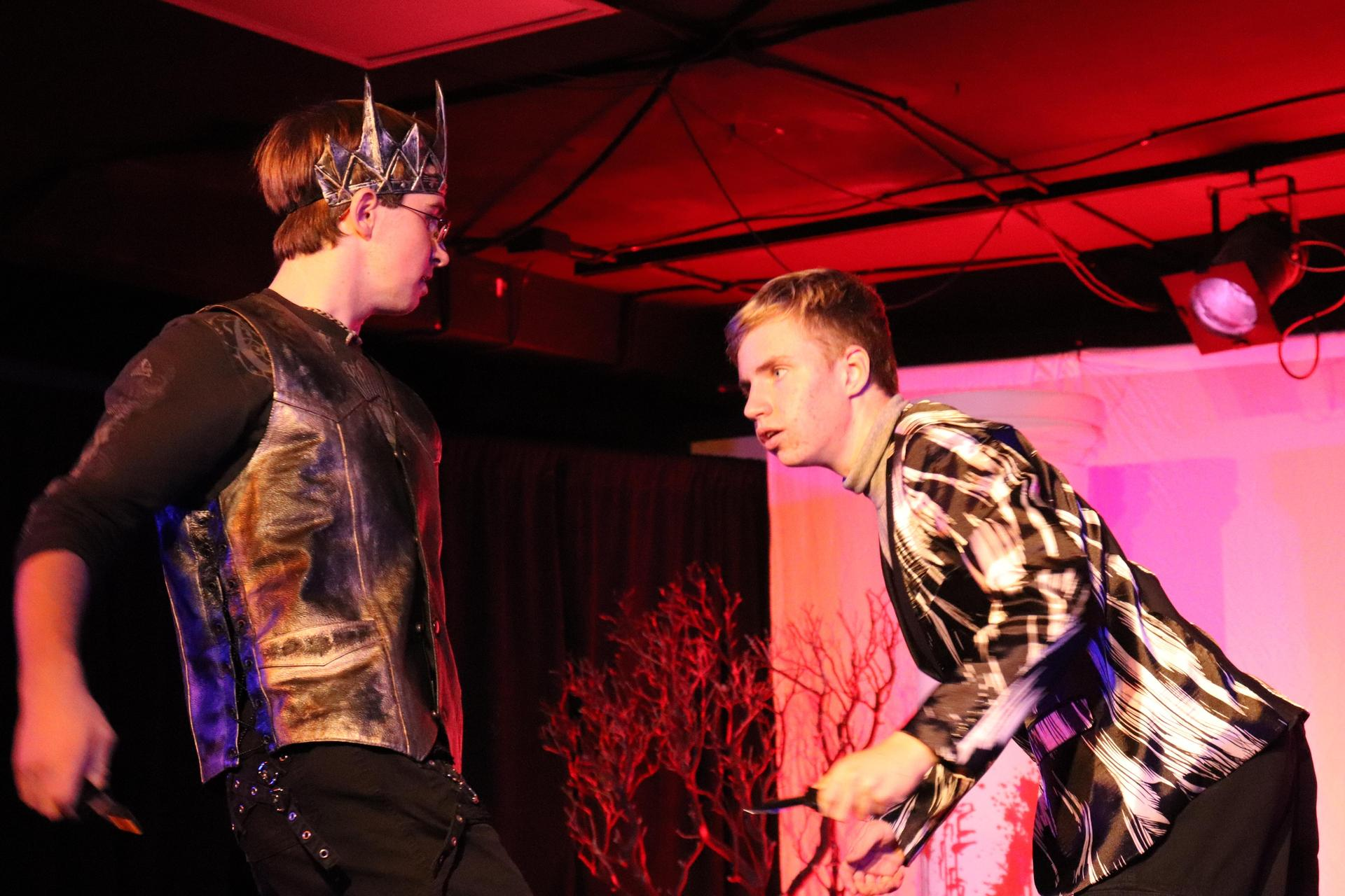 Performance of Macbeth, the upper school fall play.