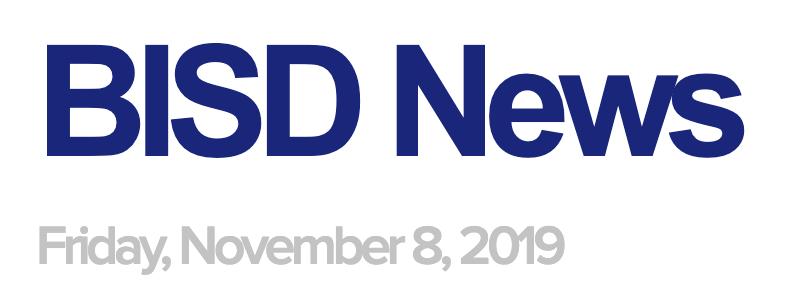 BISD News: 11/8/19