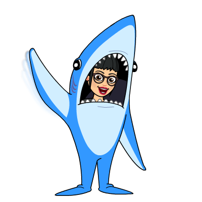 emoji of teacher in shark costume
