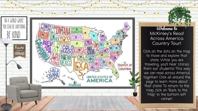 mckinley's read across america tour map