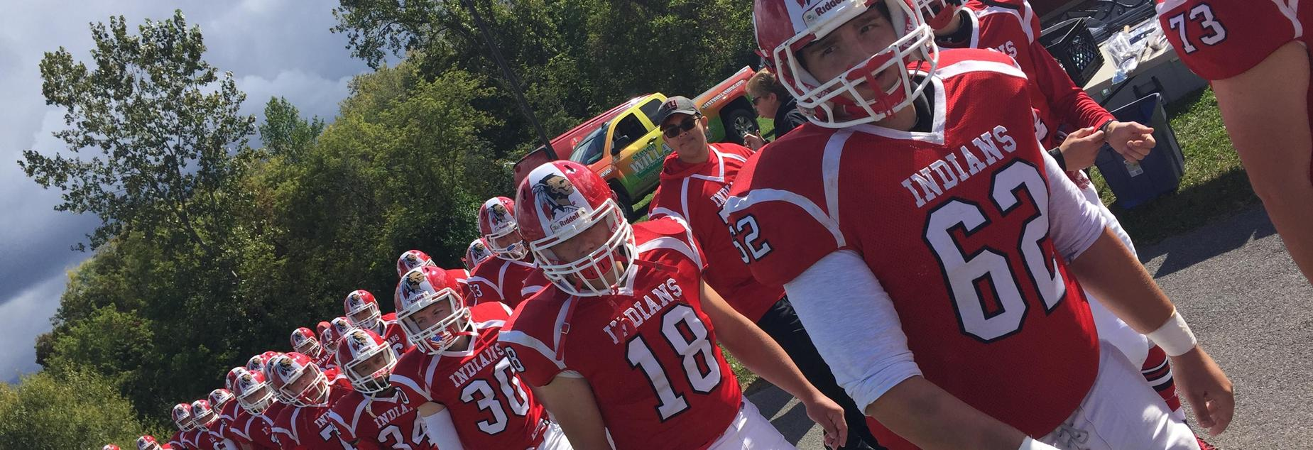 Football team taking the field, 2017