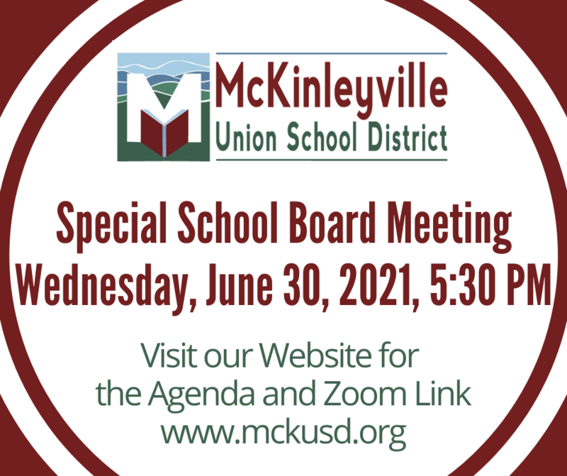 Special Board Meeting Flyer