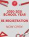 Re-registration banner