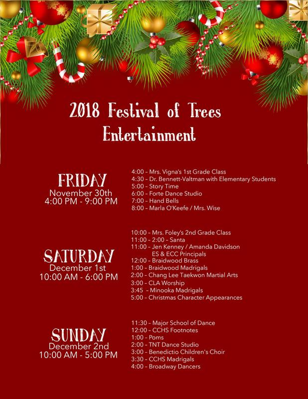 Festival of Trees Entertainment Schedule