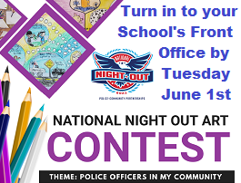 Art Contest for the National Night Out - Due Tuesday, June 1st Featured Photo