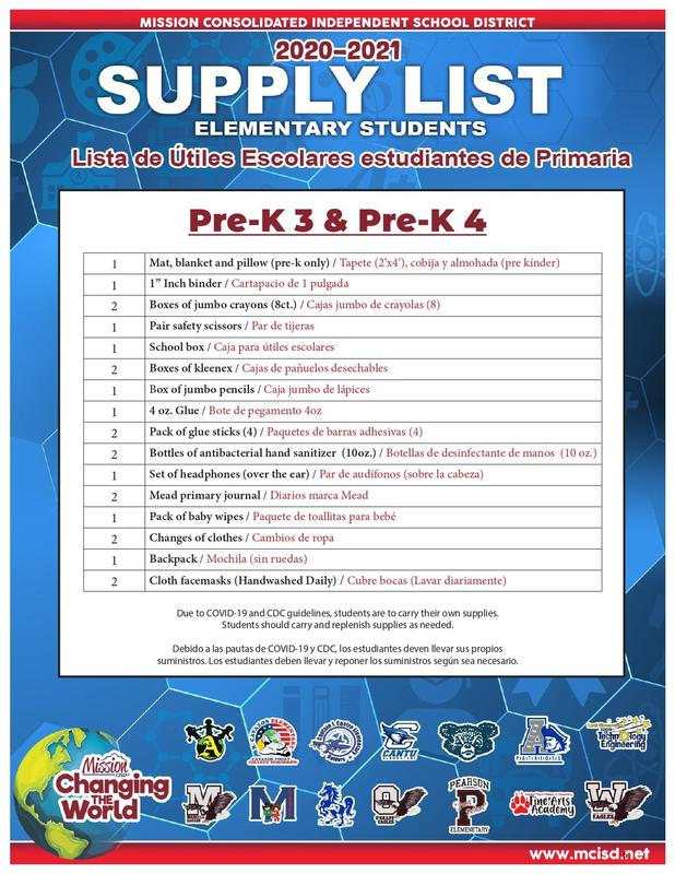 20-21 School Supply Lists are now available!